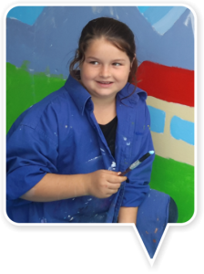 Pupils from South School in Timaru helped paint a mural for the Rainbow Room, including giving up their own time on a Saturday to help complete the artwork.